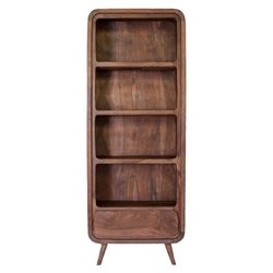 Table4u :: drewniany regał helena 85x30x160 - kolor czekolada
