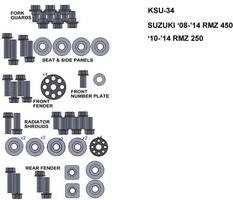 Zestaw śrub keiti do suzuki 08-14 rmz 450 10-14 rmz250