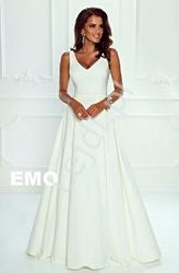 Biała skromna suknia - klaudia, na ślub cywilny, na przebranie