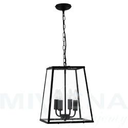 Voyager  lampa wisząca 4 czarny metalszkło
