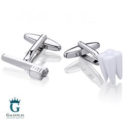 Spinki do mankietów x2 dla dentysty