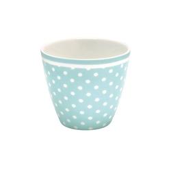 Kubek latte spot pale blue green gate