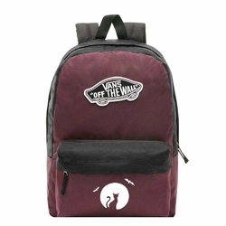 Plecak szkolny Vans Realm Prune Purple Black - VN0A3UI6TQR - Custom Halloween Cat