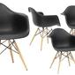 Zestaw 4 nowoczesne krzesło design daw retro czarny