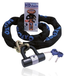 Oxford łańcuch, blokada heavy duty kolor czarny, długość 100 cm
