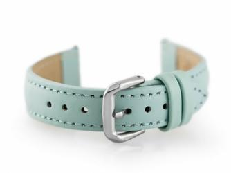 Pasek skórzany do zegarka W30 - w pudełku - jasnoniebieski - 18mm