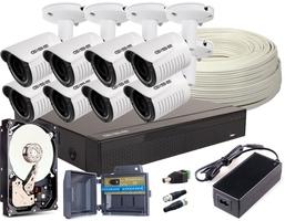 Zestaw 4w1, 8x kamera full hdir25, rejestrator 8ch + 1tb - możliwość montażu - zadzwoń: 34 333 57 04 - 37 sklepów w całej polsce