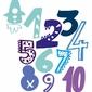 Kolorowe cyfry - plakat wymiar do wyboru: 59,4x84,1 cm