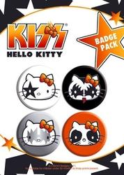 Hello kitty kiss - zestaw 4 przypinek
