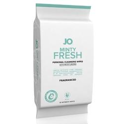 Sexshop - system jo wipes minty fresh fragranced miętowe 30szt  - chusteczki do higieny intymnej - online