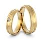 Obrączki ślubne sercem i brylantami - au-967