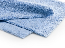 Monster shine ultra fine blue 40x40 cm - delikatna mikrofibra bez obszycia