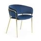 Krzesło ronso 73x58 kolor niebieski