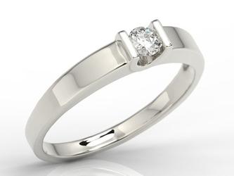 Pierścionek zaręczynowy z białego złota z brylantem jp-9816b