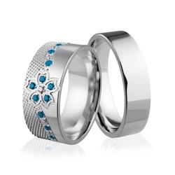 Obrączki srebrne - wzór ag-245
