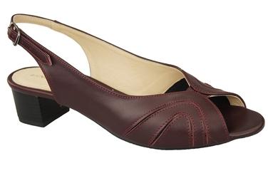 Obuwie damskie sandały skóra naturalna bordowe 991 elitabut - bordowe