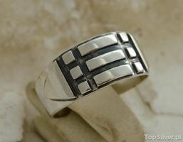 Pierścień atlantów magiczna srebrna obraczka