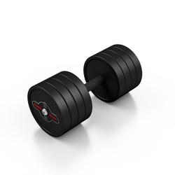 Hantla stalowa gumowana 30 kg czarny mat - marbo sport - 30 kg