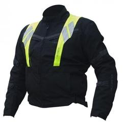Gareth kurtka tekstylna krótka model city kolor czarny zintegrowana kamizelka odblaskowa w zestawie