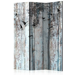Parawan 3-częściowy - rustykalne deski room dividers