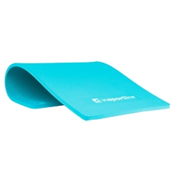 Mata do ćwiczeń profi 100 x 50 cm niebieska - insportline - niebieski