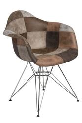 Krzesło p018 patchwork inspirowane dar - beżowy || jasny brązowy