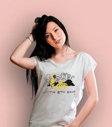 Natural born biker t-shirt damski biały xxl