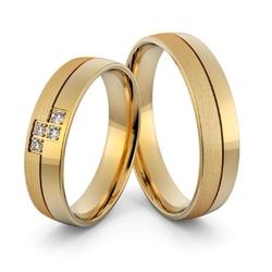 Obrączki ślubne z brylantami - au-1001