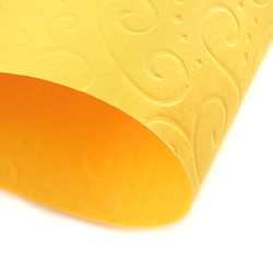 Papier ozdobny wytłaczany 220 g żółty A4 - ŻÓŁ
