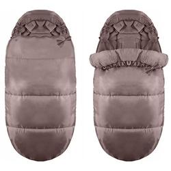 Śpiworek do wózka sanek gondola śpiwór 4w1 ciepły brązowy