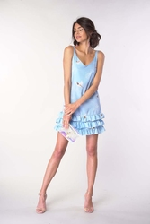 Letnia sukienka na ramiączkach błękitna