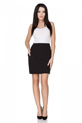 Czarna spódnica dopasowana mini z kieszeniami