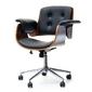Fotel tapicerowany czarny walter