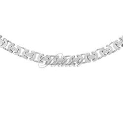 Łańcuszek ozdobny srebrny pr. 925 ø 0115 rodowanie - 6,0 mm