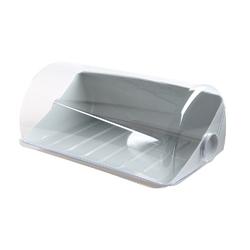 Chlebak  pojemnik na pieczywo z tworzywa sztucznego lamela graham jasny szary