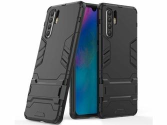 Etui Alogy Stand Armor do Huawei P30 Pro czarne + szkło