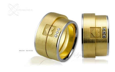 Obrączki ślubne - wzór au-633