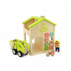 Stacja sortowania śmierci i recyklingu drewniana makieta masterkidz