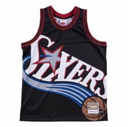 Koszulka mitchell  ness nba big face jersey philadelphia 76ers - philadelphia 76ers
