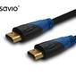 Elmak kabel hdm v1.4 savio cl-48 10szt. paczka, oplot nylon złoty 3d, 4kx2k, 2m