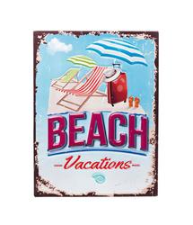 KARE Design :: Dekoracja ścienna Beach 40 x 30 cm - wzór 2 - wielokolorowy