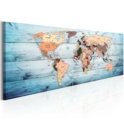 Obraz - mapy świata: szafirowe podróże