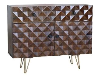 Drewniana komoda ilusion  wys. 80 cm