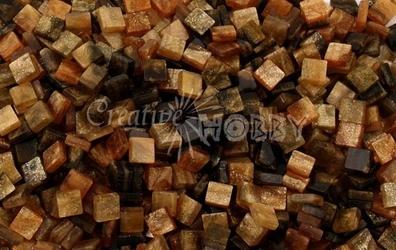 Mozaika marmur brązowa 5x5 mm - 700 sztuk - BRĄZMAR