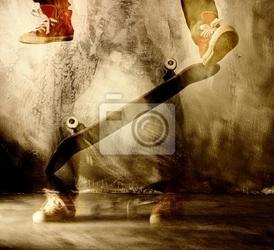 Fototapeta sztuką skateboard w ruchu