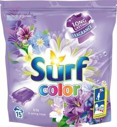 Surf, IrisSpring Rose, kapsułki do prania tkanin kolorowych, 15 sztuk