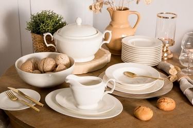 Zestaw obiadowy dla 6 osób porcelana mariapaula ecru 24 elementy