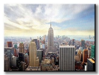 Manhattan, new york - obraz na płótnie