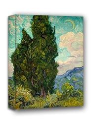 Cyprysy - vincent van gogh - obraz na płótnie wymiar do wyboru: 60x90 cm