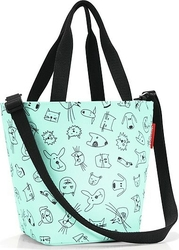 Torba Shopper XS Cats and Dogs miętowa